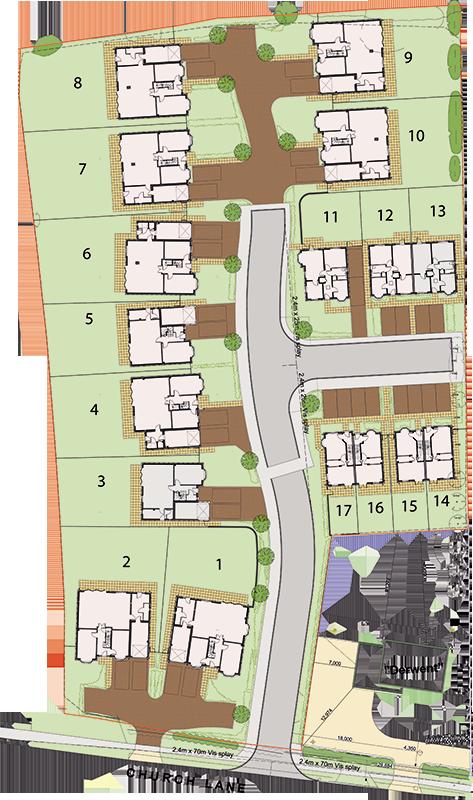 Corley Gardens Site Map