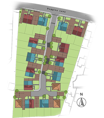 Corley Gardens Site Map, Solihull