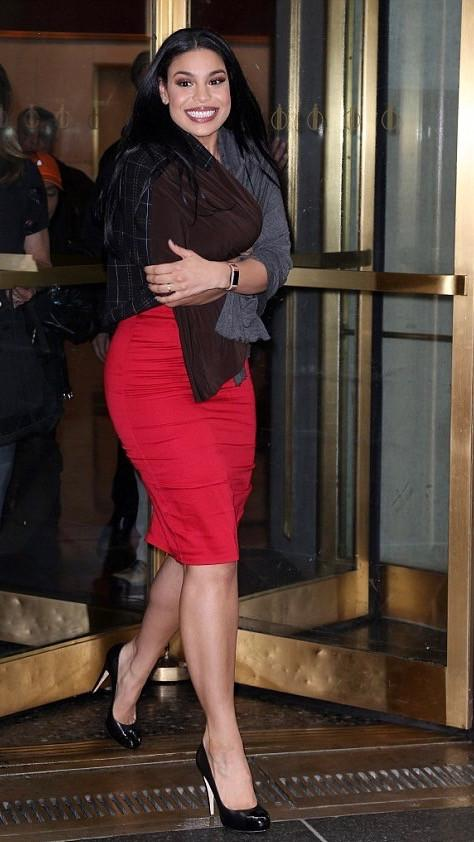 Jordin Sparks walking out of Today Show