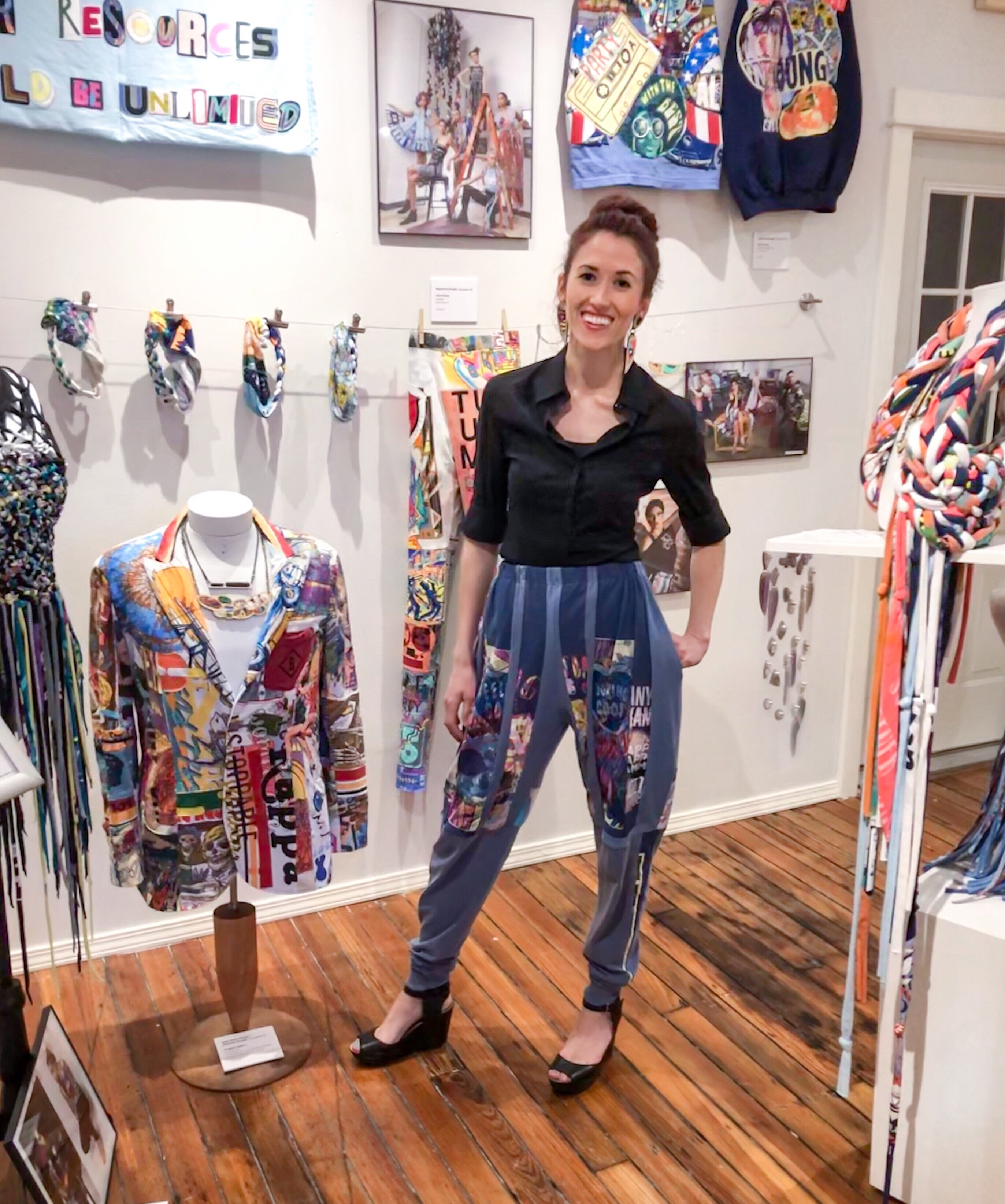 Wearable art on display at The Art Collective Gallery