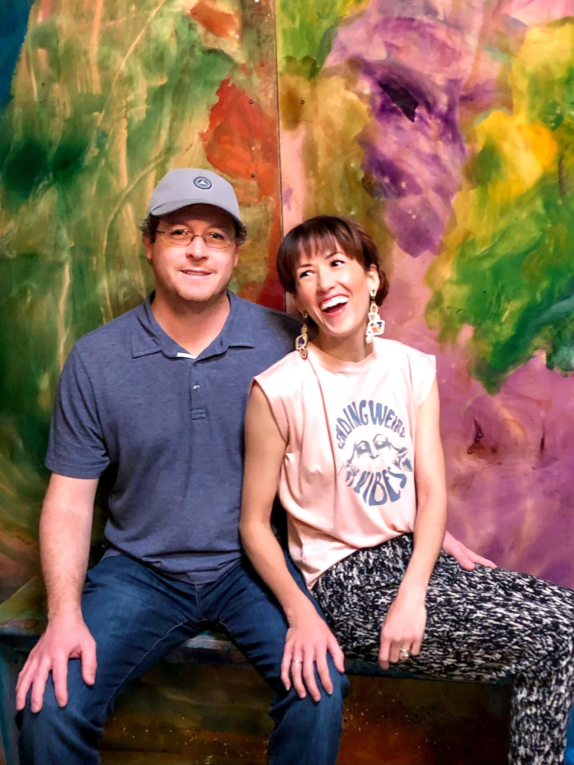 Alyssa Bird and her husband Nick Bahash enjoying art