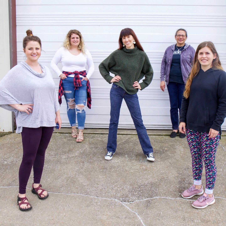 The Regenerous Designs QuaranTEAM  posing for a group photo