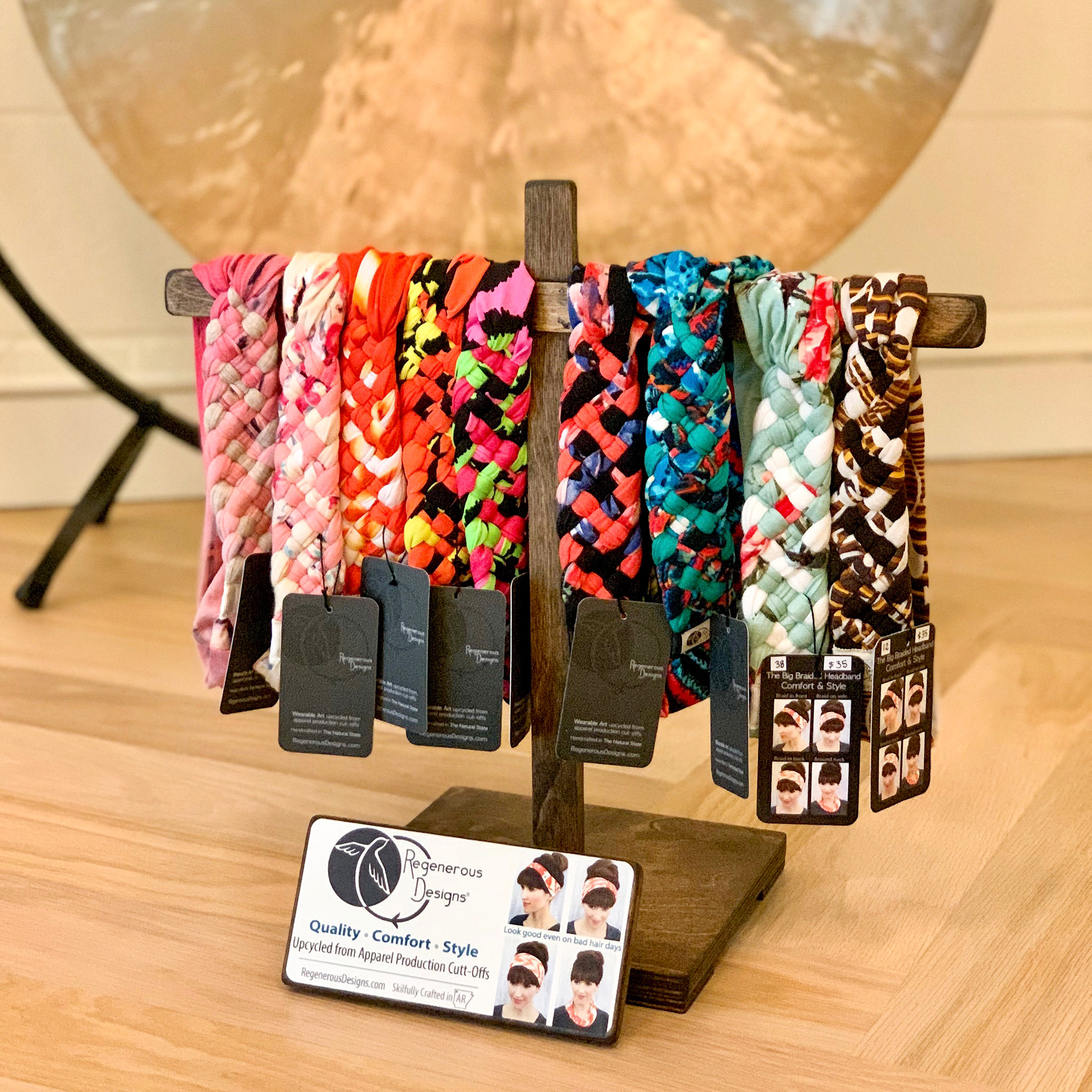 Regenerous Designs Big Braided Headbands at the Cocoon Yoga Studio