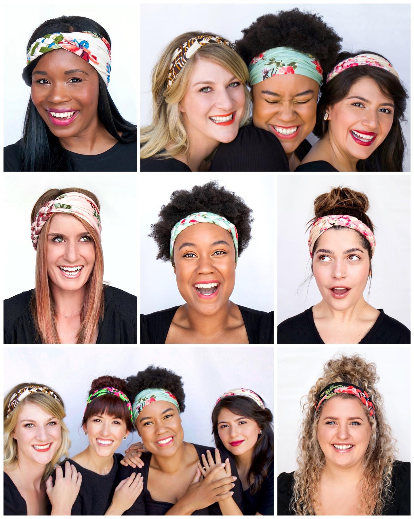 Regenerous Designs Big Braided Headbands on several beautiful models