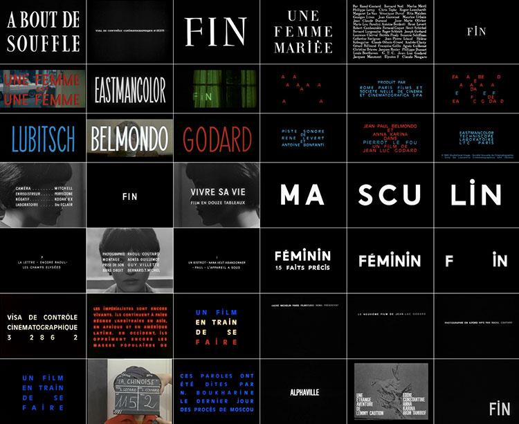 Tipografía de las películas de Godard