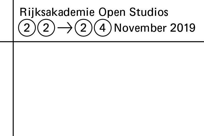 Rijksakademie Open Studios 2019