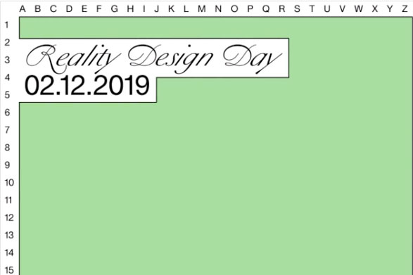 Reality Design Day