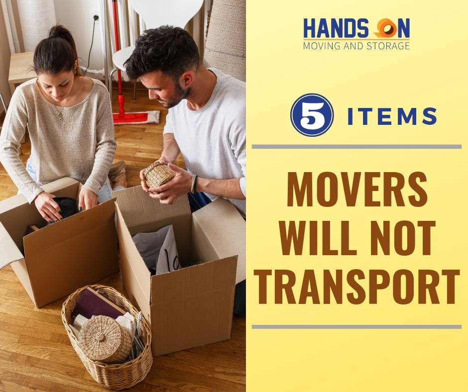 5 Items Movers will not Transport