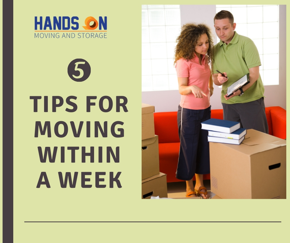 5 Tips for moving within a week