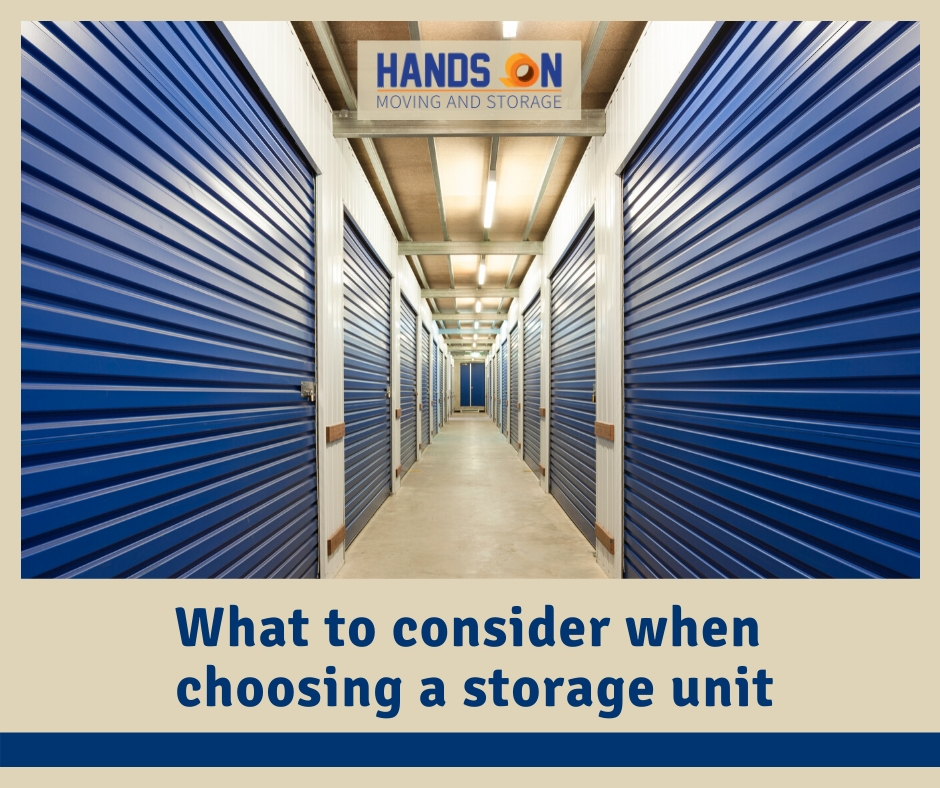 What to Consider When Choosing a Storage Unit