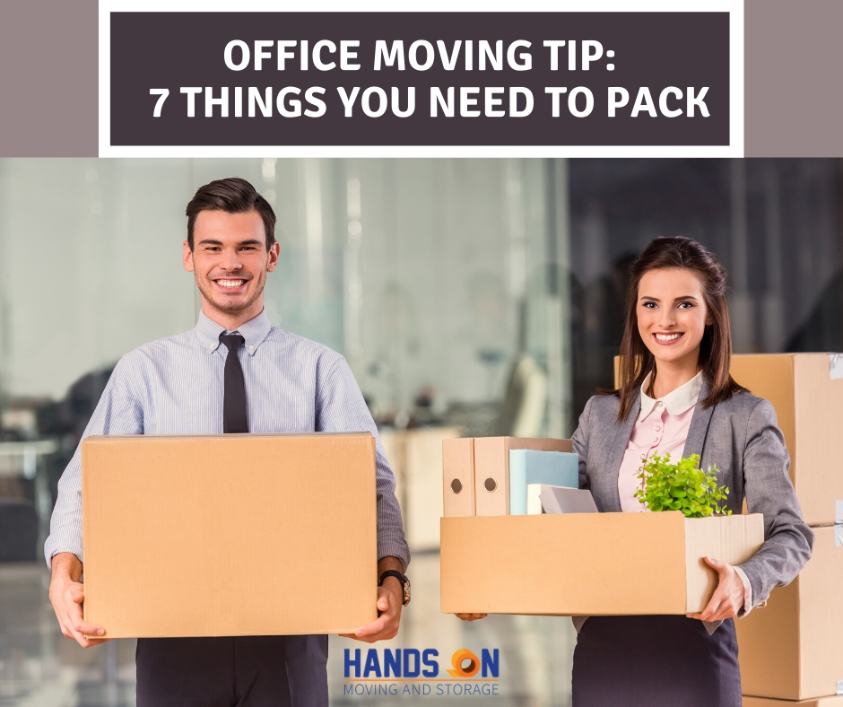 Office Moving Tips: 7 Things You Need to Pack