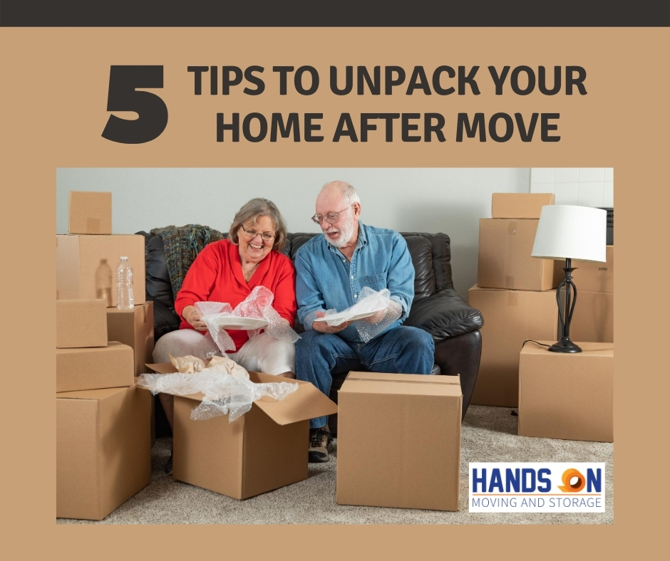 5 Tips to unpack your home after move