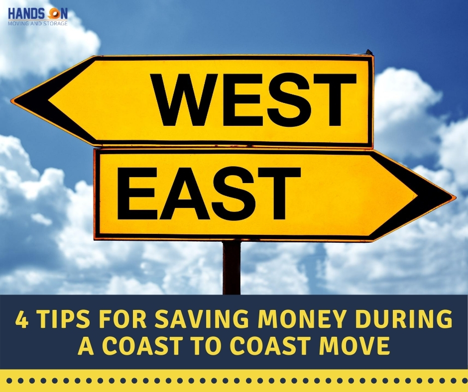 4 Tips for saving money during the coast to coast move