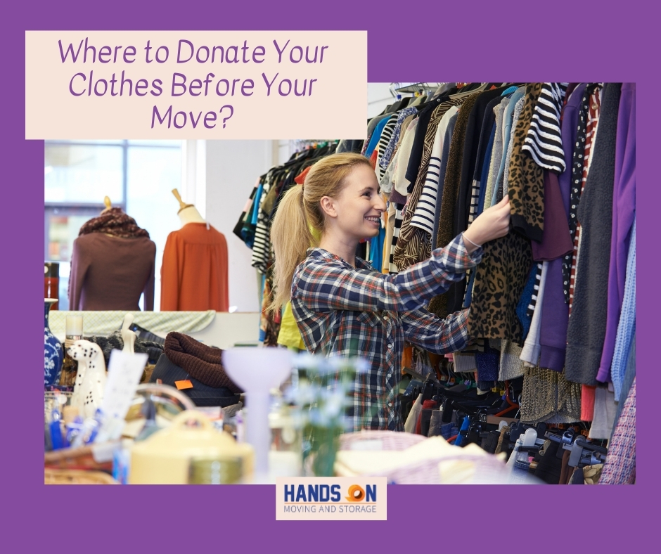 Places to Donate Your Clothes Before Your Move