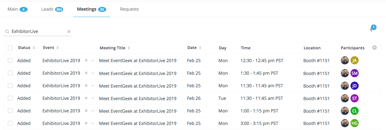 EventGeek Lead Capture and Meetings
