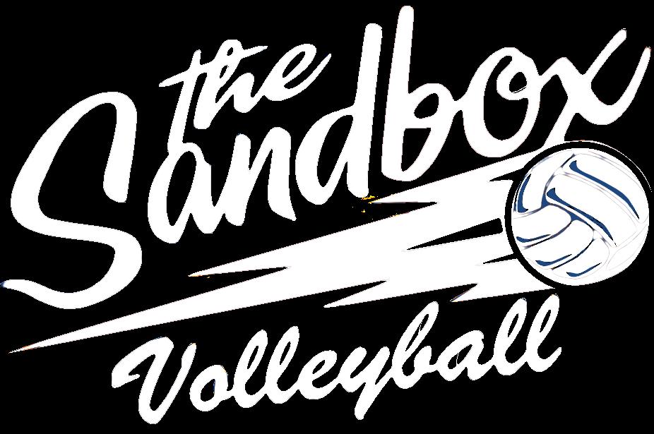 sandbox volleyball logo with link to sandbox volleyball homepage