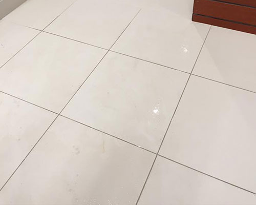 Tile and grout cleaning completed by Steam Commander