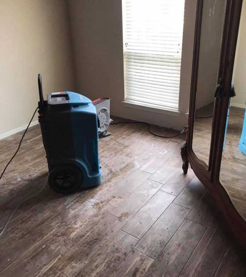Water damage restoration humidifier
