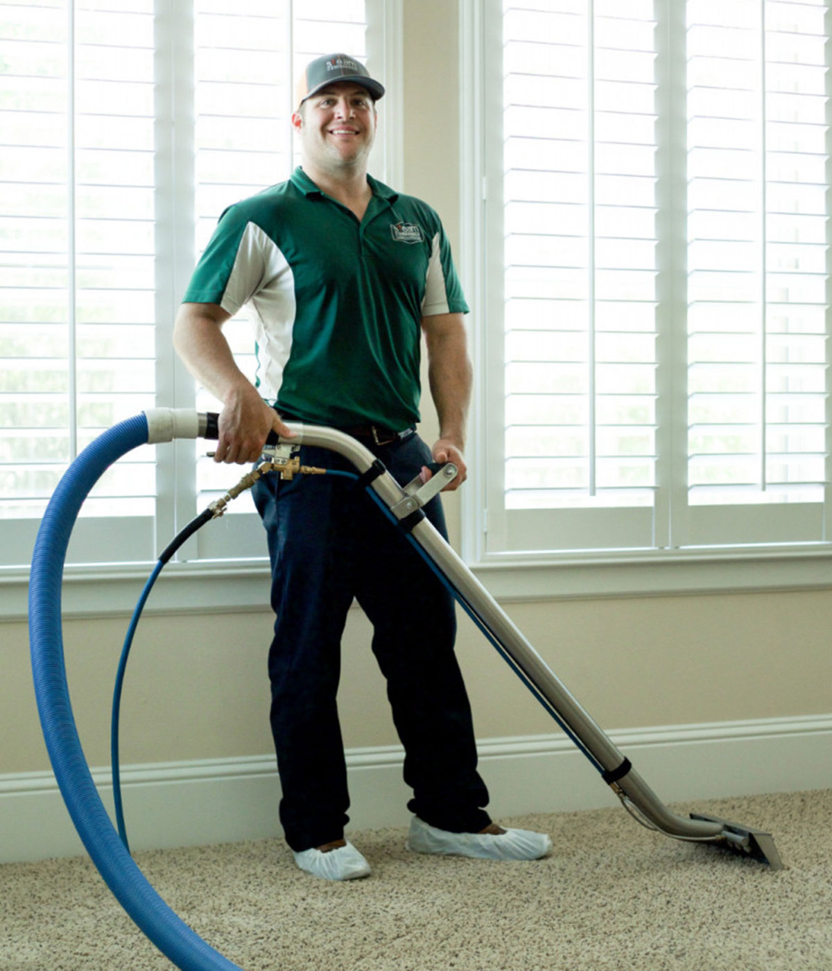 Cody, owner of Steam Commander, carpet cleaning