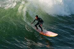 Surfing the coast