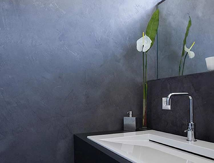 Individuelles Raumdesign mit besonderen Wandspachteltechniken von ihrer Maler Werkstätte Scheuerle