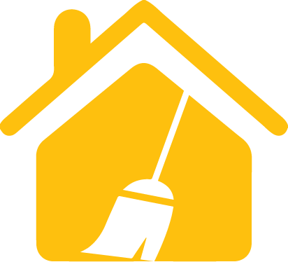 Yellow House with broom