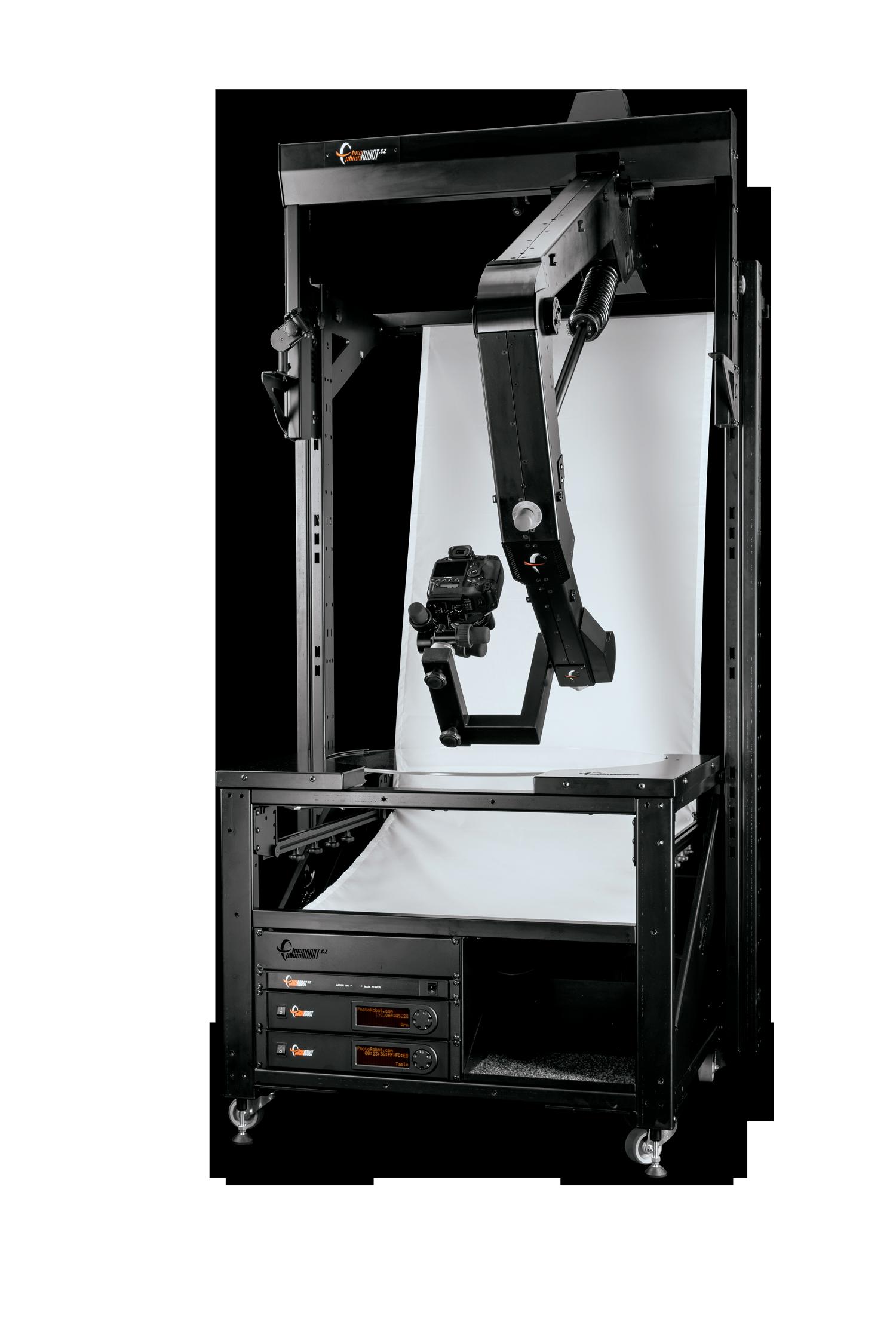 PhotoRobot table en verre avec trépied robotique VARIO