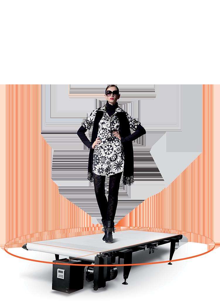 PhotoRobot CATWALK з моделлю