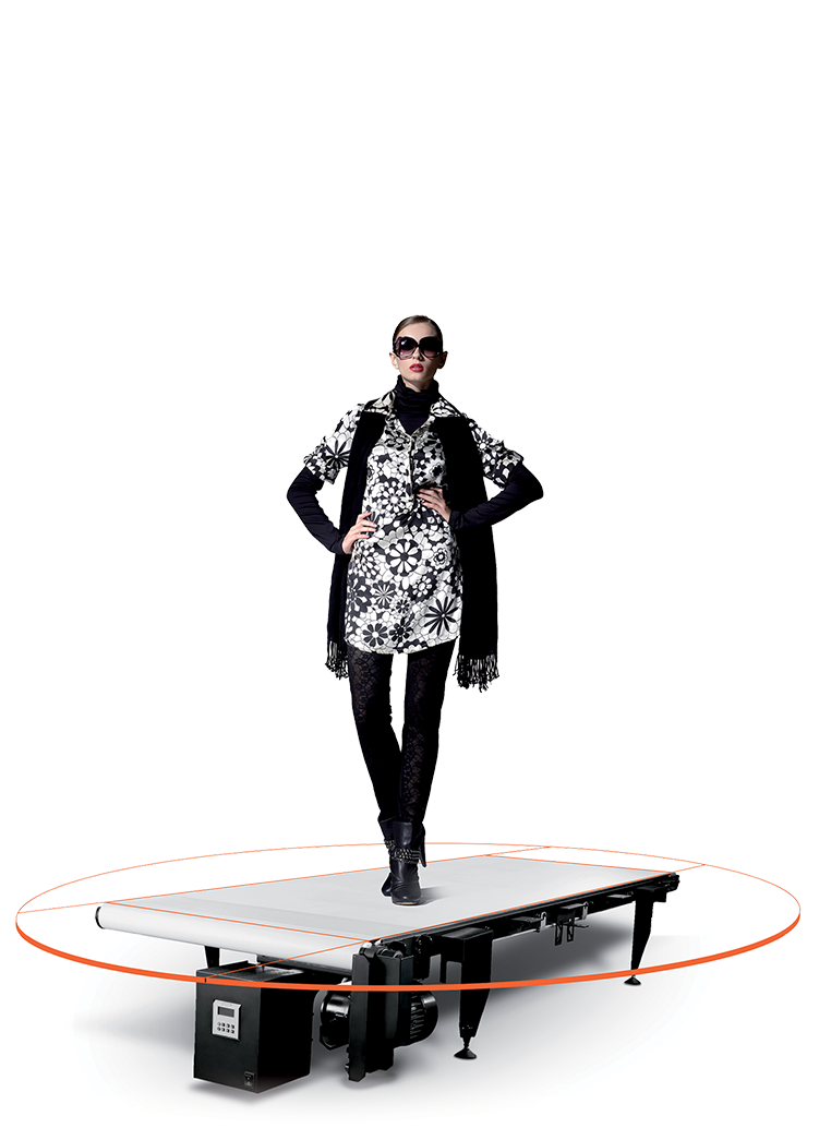 PhotoRobot CATWALK su modeliu