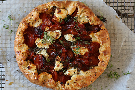 Tomato, Goat's Cheese & Thyme Galette