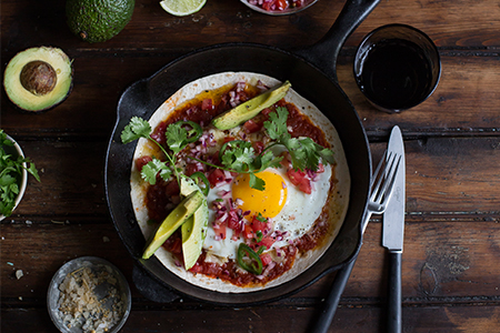 Huevos Rancheros with chipolte with ZZ2 avocados