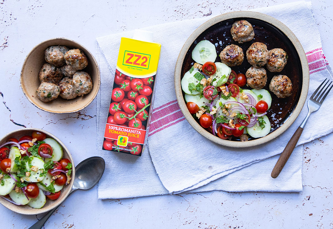 Lamb Meatballs with Heart Healthy Salad
