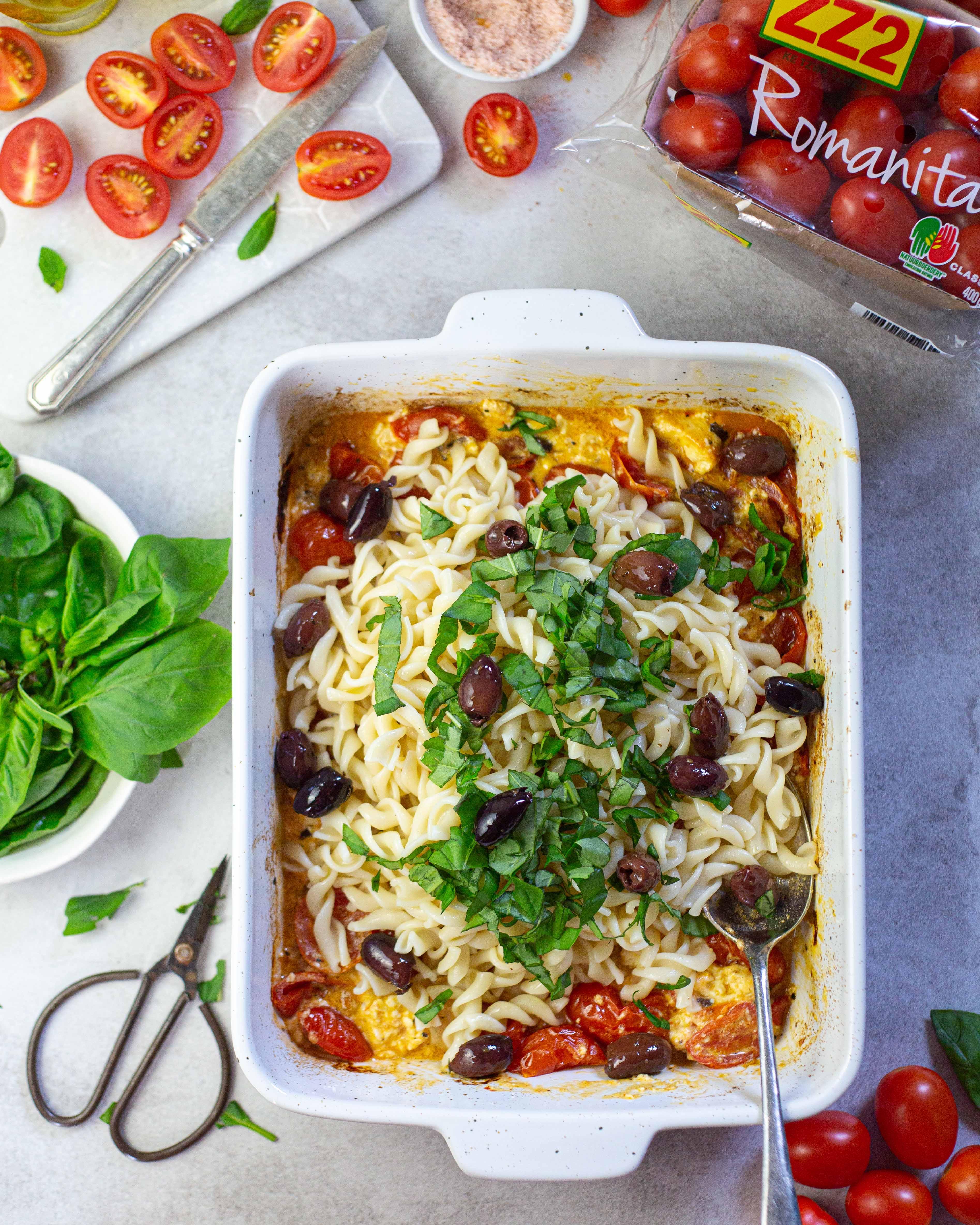 Romanita Tomato Feta Pasta Bake