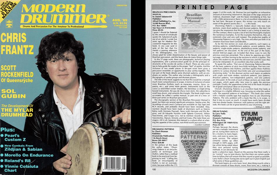 Drumming Patterns reviewed in Modern Drummer