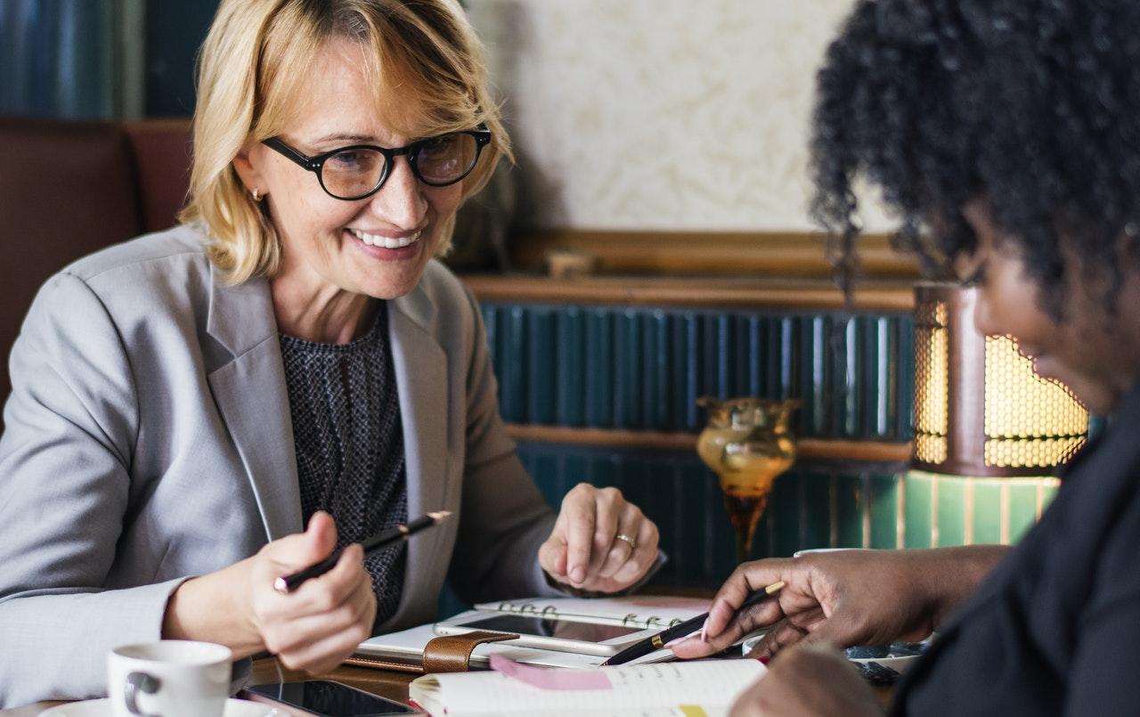 woman coaching student