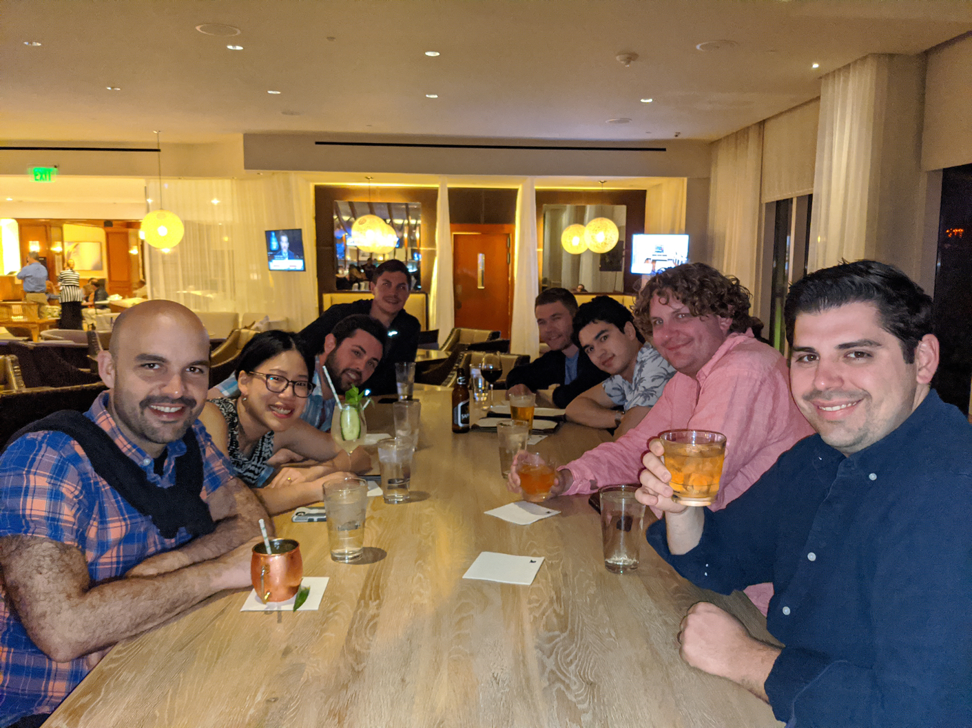 A photo of PatientIQ employee happy hour