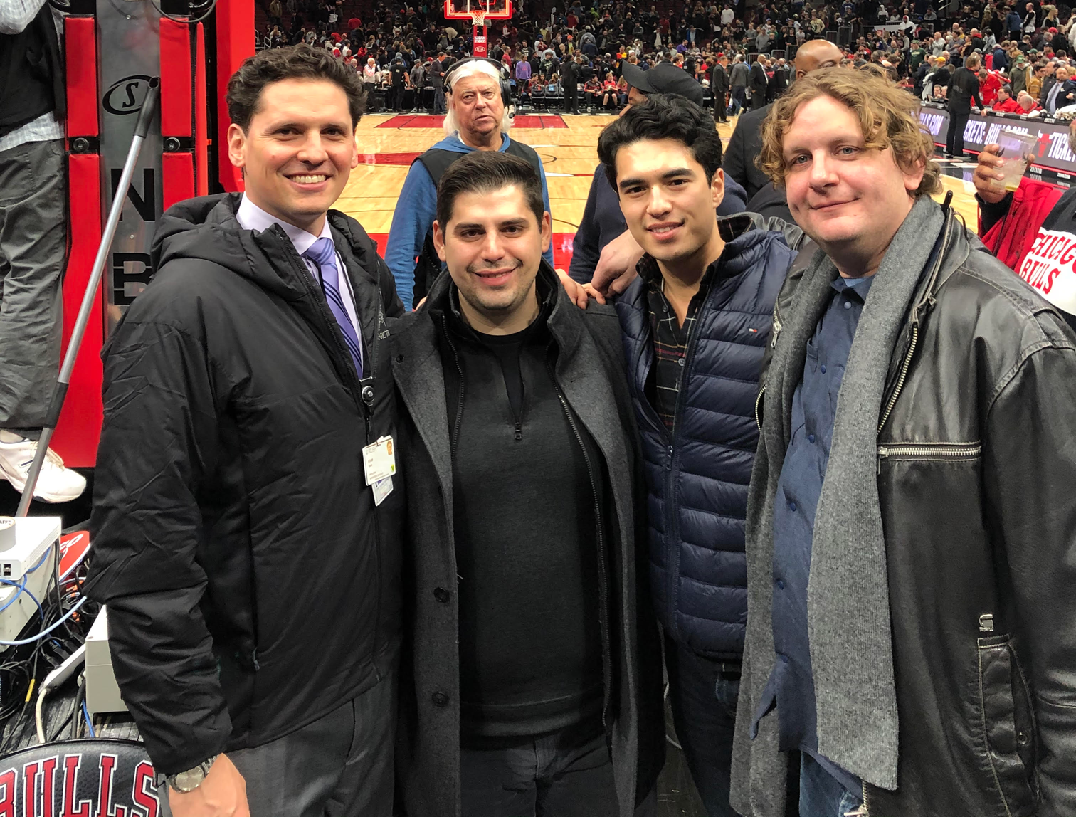 PatientIQ employees at a Chicago Bulls game