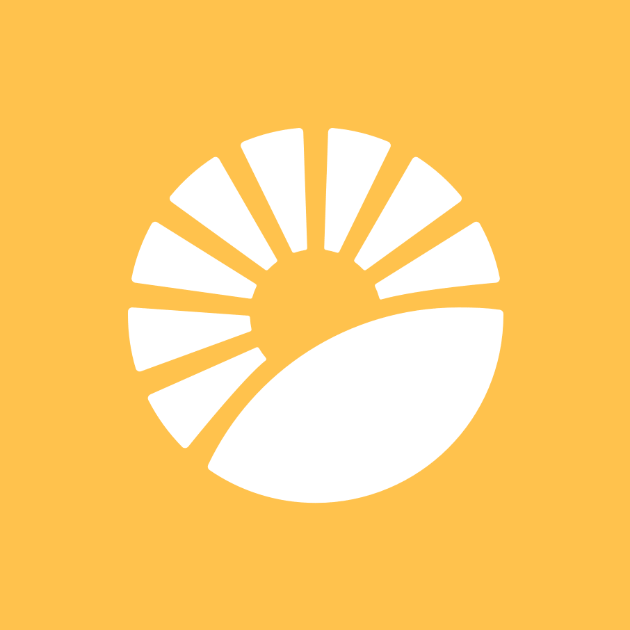 The beautiful Day logo—a sun rising over a landscape—the symbolic representation of hope.