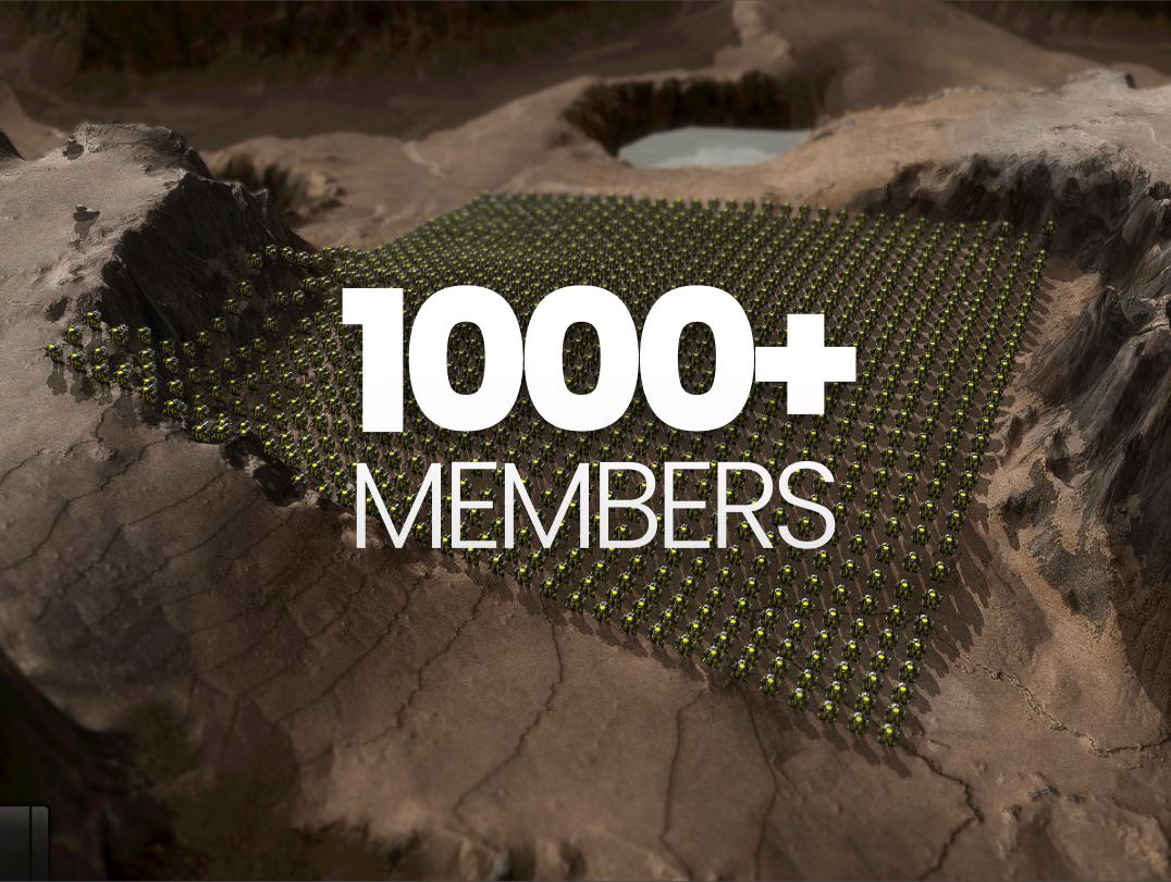 1000 members in bar discord