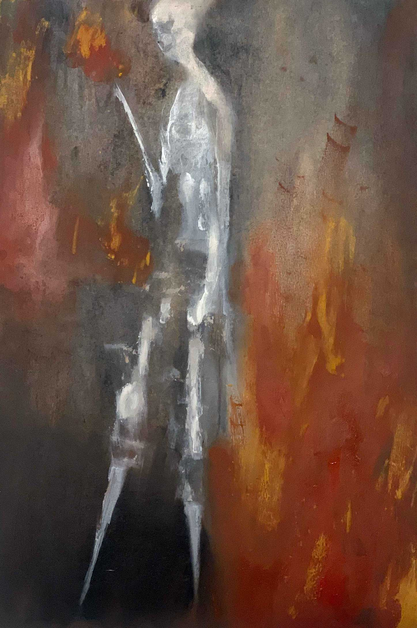 """Fire Walker,"" painting by Tamara Anna Pawlak"