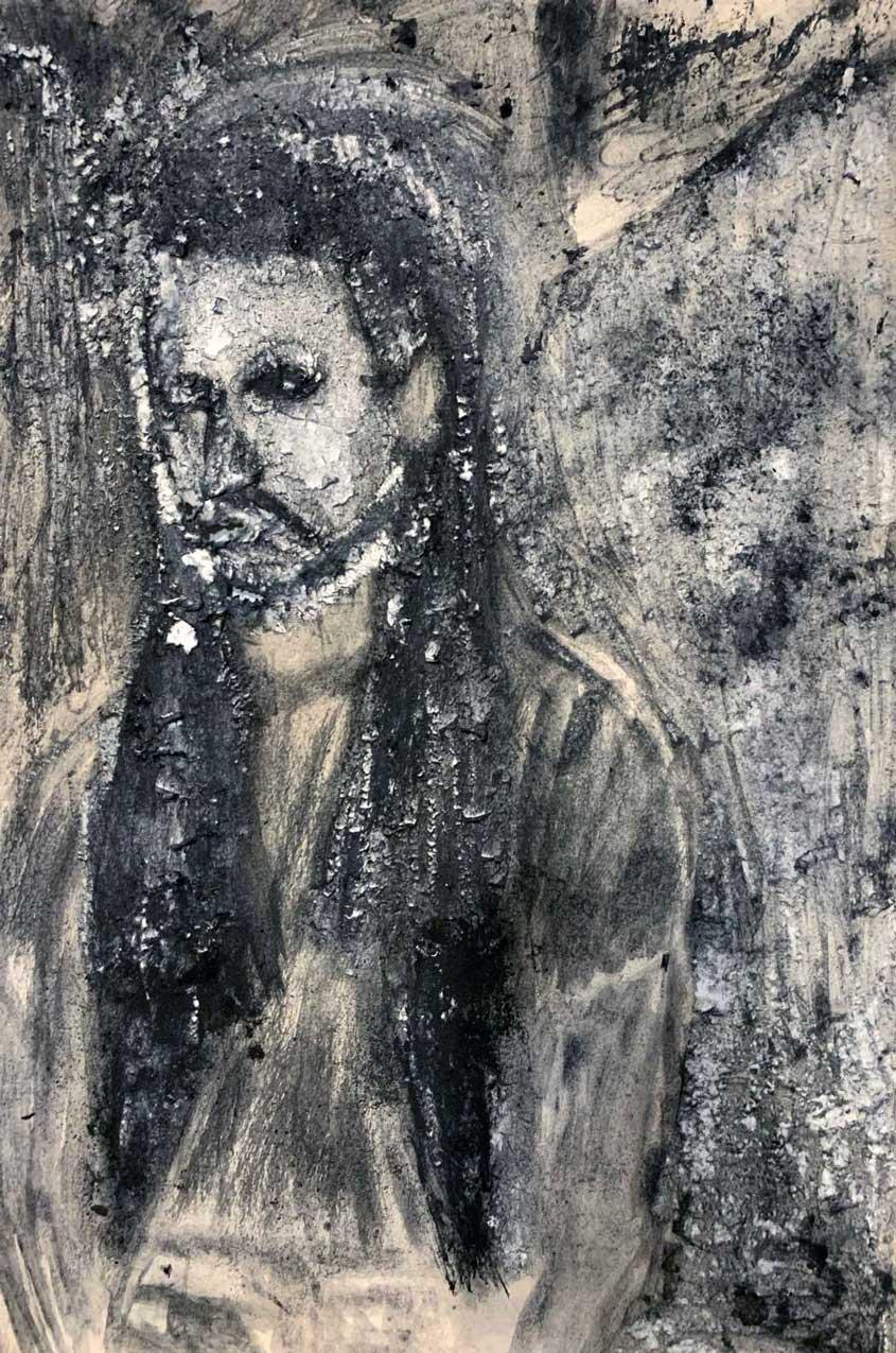 """Wicker Man,"" painting by Tamara Anna Pawlak"