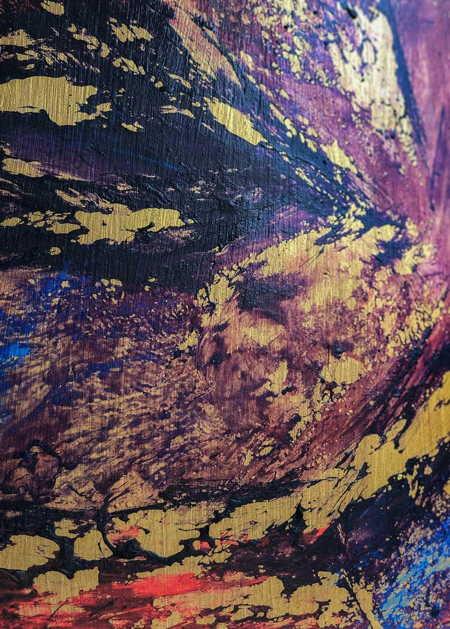 "Close-up 1 of ""Iggy,"" painting by Tamara Anna Pawlak"