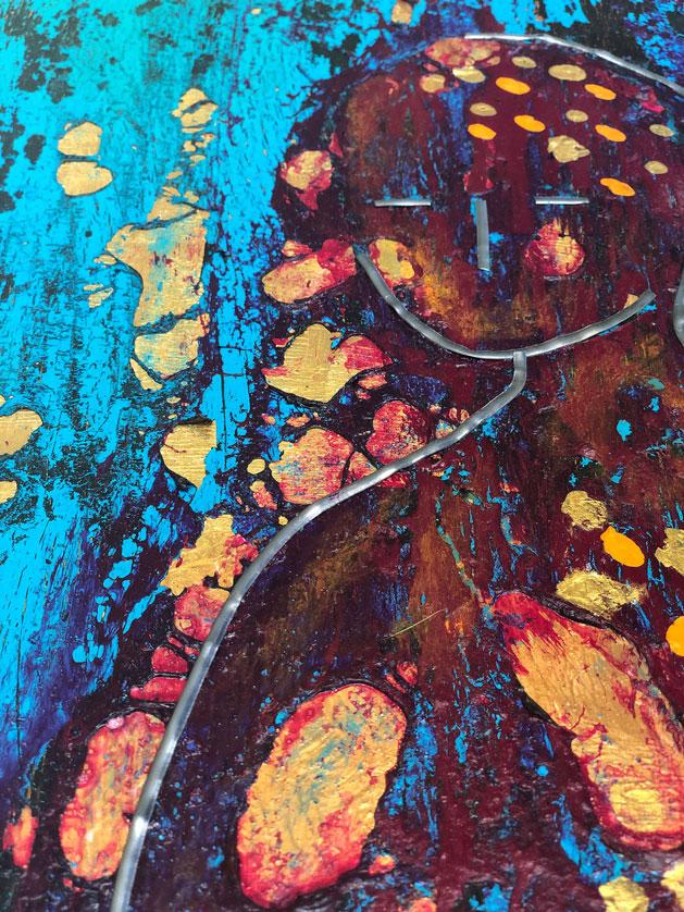 "Close-up 1 of ""Emmanuel,"" painting by Tamara Anna Pawlak"