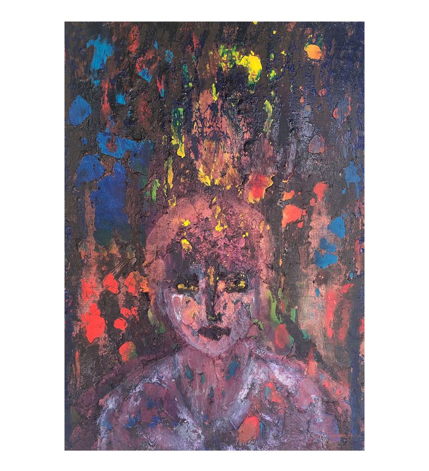 """Edward,"" painting by Tamara Anna Pawlak"