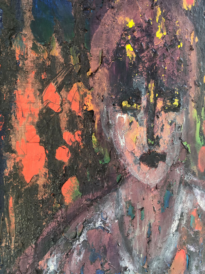 "Close-up 1 of ""Edward,"" painting by Tamara Anna Pawlak"