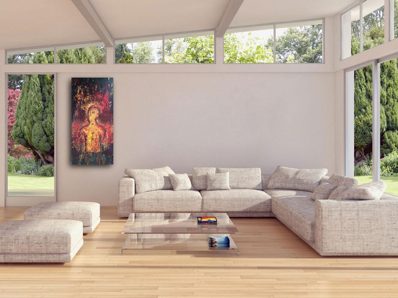 "Gallery image of ""Sun King,"" painting by Tamara Anna Pawlak"