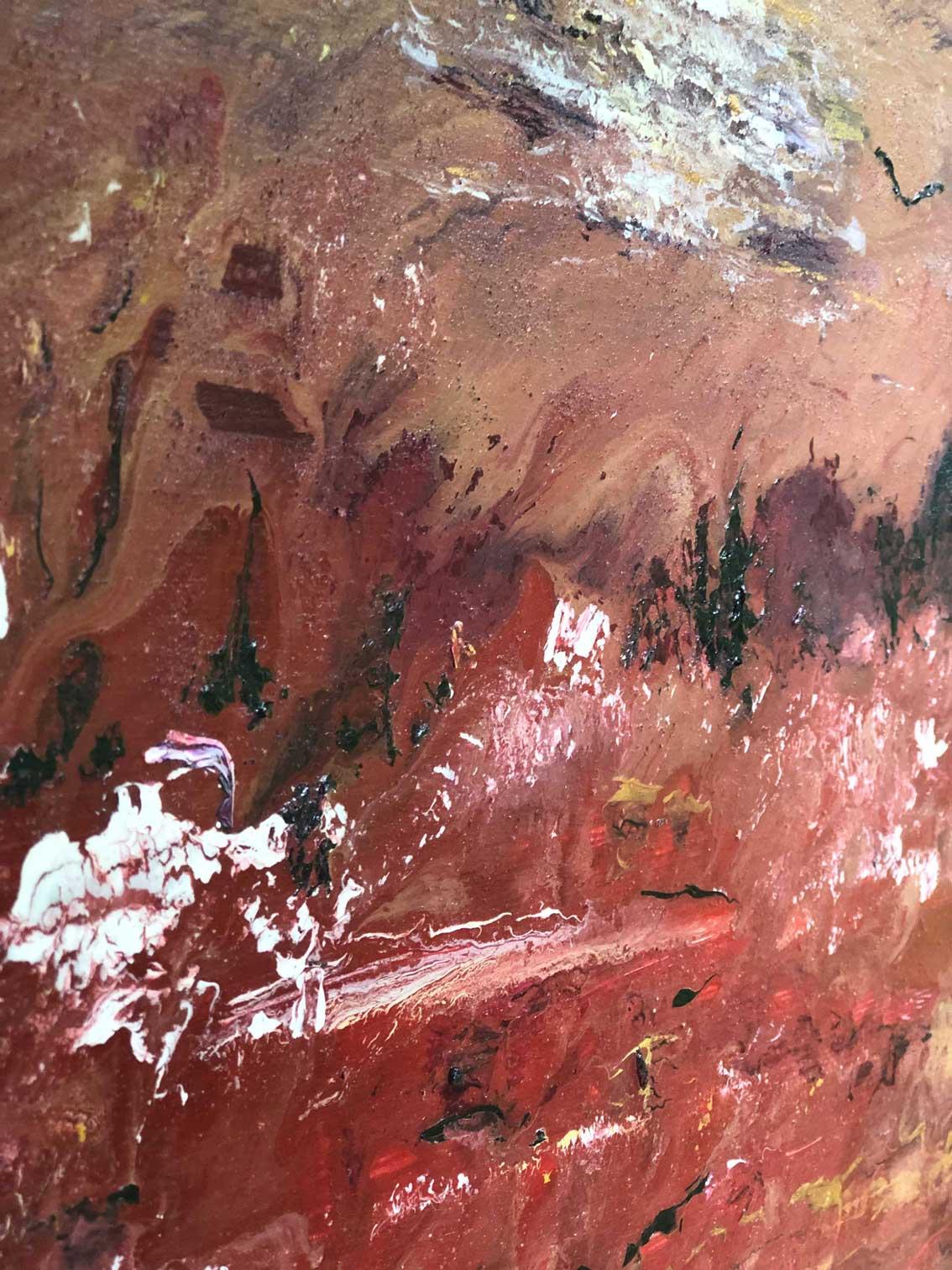 "Close-up 1 of ""Spirit"" painting by Tamara Anna Pawlak"