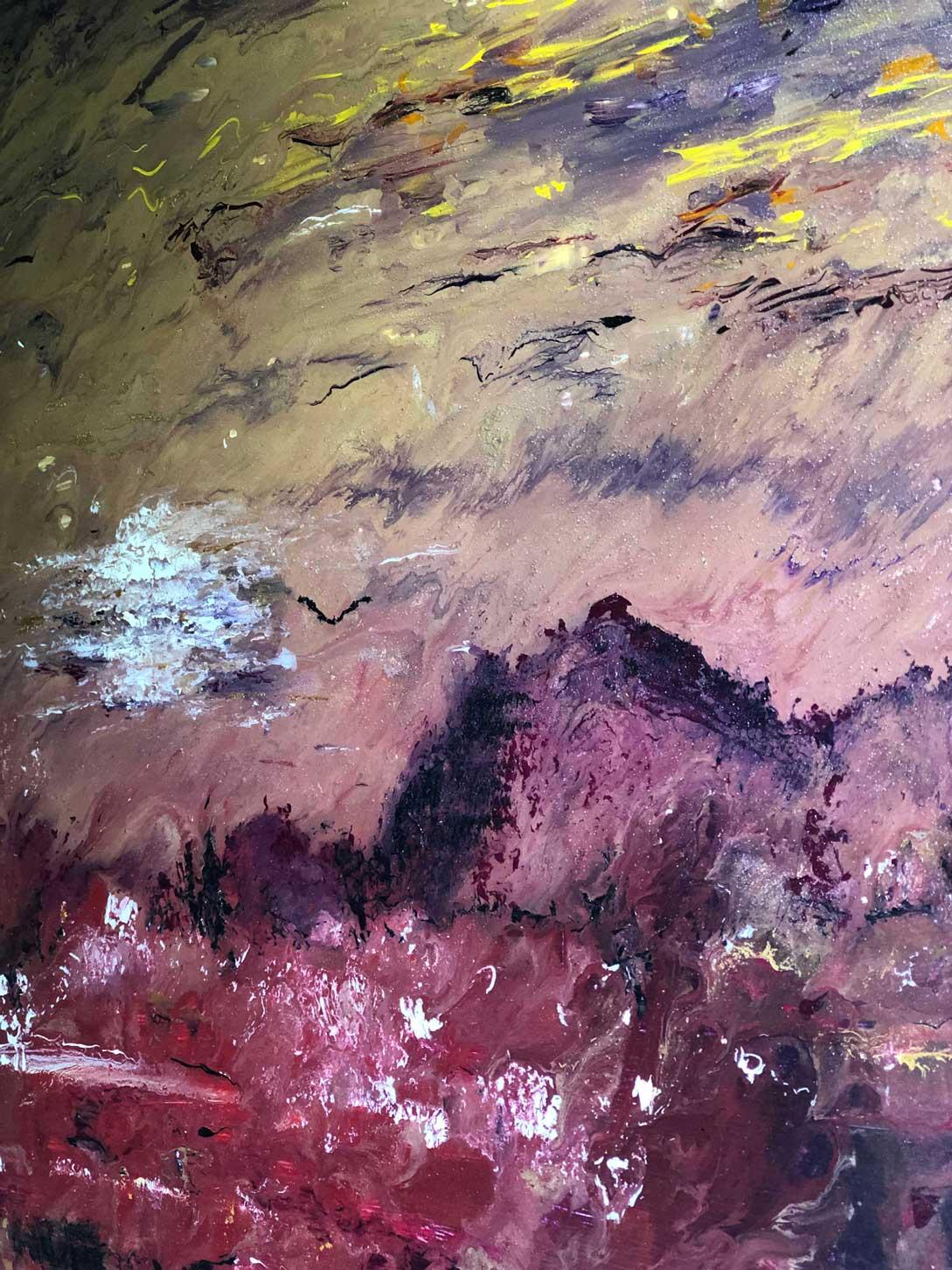 "Close-up 2 of ""Spirit"" painting by Tamara Anna Pawlak"