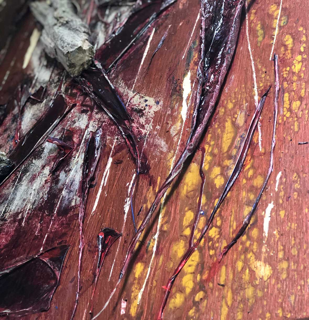 "Close-up 3  of ""Flesh and Bone"" painting by Tamara Anna Pawlak"