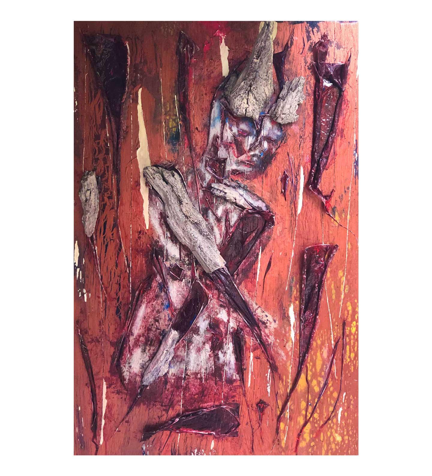 """Flesh and Bone,"" painting by Tamara Anna Pawlak"